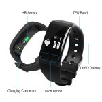 Jeemak 0.66 OLED Smart Bracelet with Heart Rate Monitor Pedometer